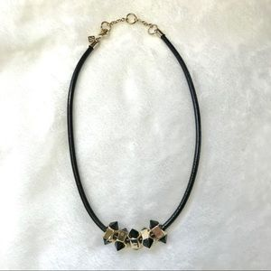 Banana Republic Faux Leather Spike Necklace